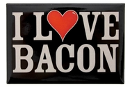 """I Love Bacon"" Metal Magnet"