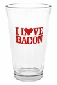"""I Love Bacon"" Pub Glass"