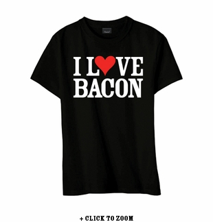 """I Love Bacon"" Youth T-shirt - Black - Blue or Pink"