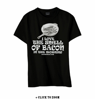 I Love The Smell Of Bacon In The Morning Kid's Youth T-Shirt