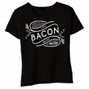 I Put Bacon on My Bacon Baby Doll Shirt - Black