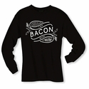 I Put Bacon on My Bacon Long Sleeve Shirt - Black