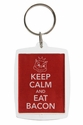 """Keep Calm and Eat Bacon"" Keychain"