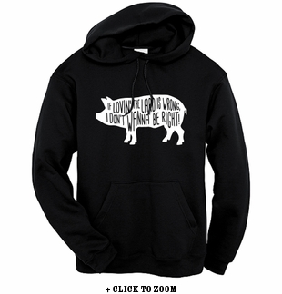 Lovin' The Lard Hooded Sweatshirt - Black
