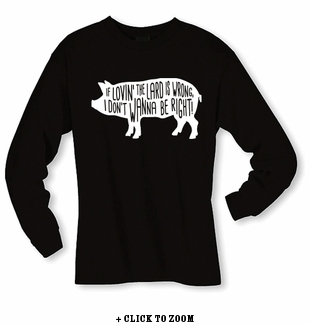 Lovin' The Lard Long Sleeve Shirt - Black