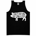 Lovin' The Lard Mens Tank Top - Black