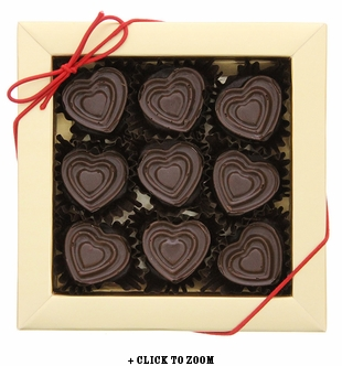 Milk Chocolate Hearts Flavored With Bacon - 10pc