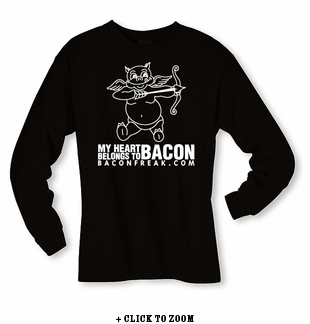 My Heart Belongs to Bacon Long Sleeve Shirt