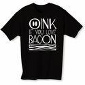 Oink If You Love Bacon Mens T-shirt - Black - Blue or Pink