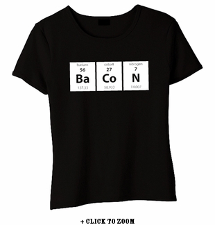 Periodic BaCoN Baby Doll Shirt - Black