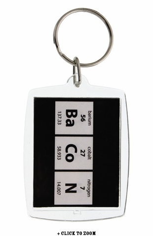 Periodic Bacon Keychain