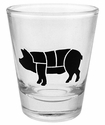 Pig Diagram Shot Glass