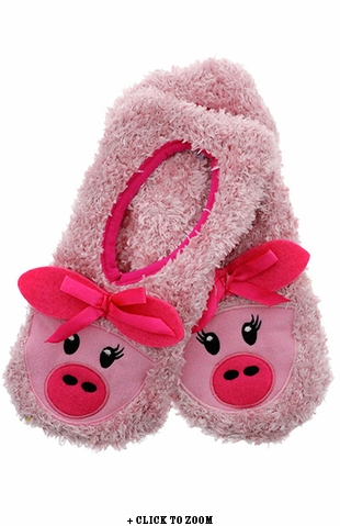 Pink Piggy Slippers