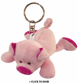 Plush Piggy Keychain