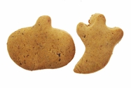 Pumpkin and Ghost Shaped Pumpkin Cookies Flavored with Bacon