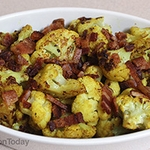 Roasted Curried Cauliflower With Bacon