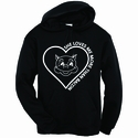 She Loves Me More Than Bacon Hooded Sweatshirt
