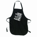 She Loves Me More Than Bacon - Square Logo Apron
