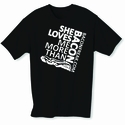 She Loves Me More Than Bacon - Square Logo Mens T-Shirt