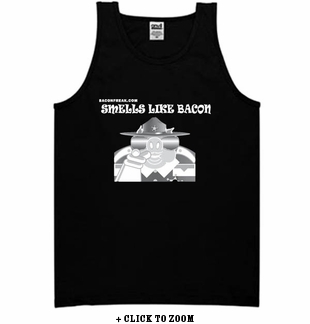 Smells Like Bacon (Pig Cop) Mens Tank Top - Black
