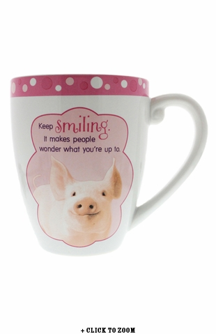 """Smile"" Oversized Piggy Mug"