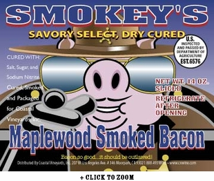 Smokey's Savory Select - Maplewood Smoked Bacon - 2pk