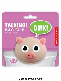 Talking Pig Chip Clip