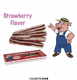 Uncle Oinker's Gummy Bacon (Strawberry Flavor)