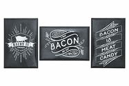 Vintage Inspired Bacon Magnet Trio