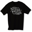 I Put Bacon on My Bacon Mens T-shirt - Black - Blue or Pink