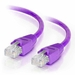 100Ft Cat5e Snagless Unshielded (UTP) Ethernet Cable - Purple, 10-Pack