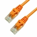 100Ft Cat6 Ferrari Boot Ethernet Cable - Orange, 10-Pack