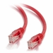 10Ft Cat6 Universal Boot Ethernet Cable - Red, 10-Pack