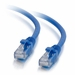 1Ft Cat5e Universal Boot Ethernet Cable - Blue, 10-Pack