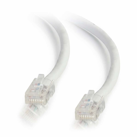 2Ft Cat6 Non-Booted Ethernet Cable - White, 10-Pack