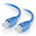 2Ft Cat6 Snagless Ethernet Cable - Blue, 10-Pack