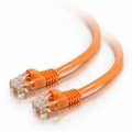 2Ft Cat6 Snagless Ethernet Cable - Orange, 10-Pack