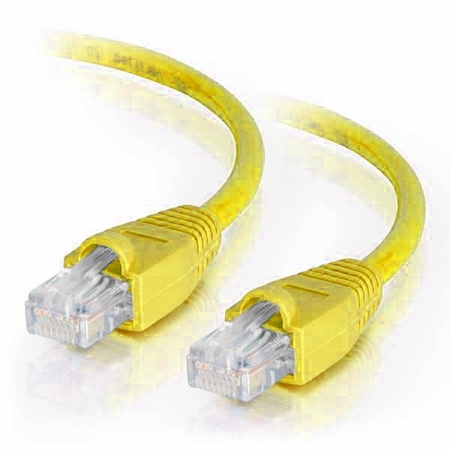 2Ft Cat6A Snagless Unshielded (UTP) Ethernet Cable - Yellow, 10 Pack