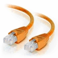 3Ft Cat6A Snagless Unshielded (UTP) Ethernet Cable - Orange, 10 Pack