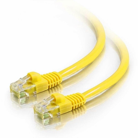 7Ft Cat5e Snagless Unshielded (UTP) Ethernet Cable - Yellow, 10-Pack