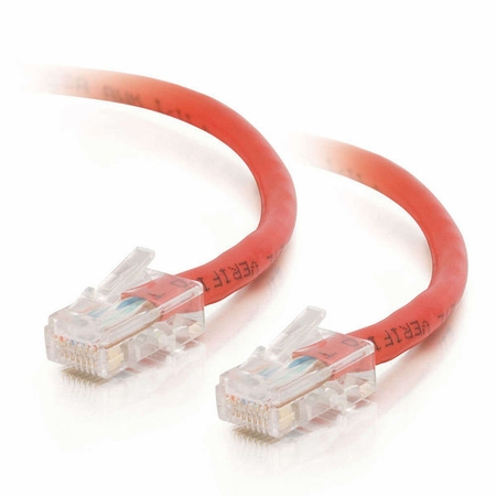 7Ft Cat6 Crossover Non-Booted Ethernet Cable - Red, 10-Pack