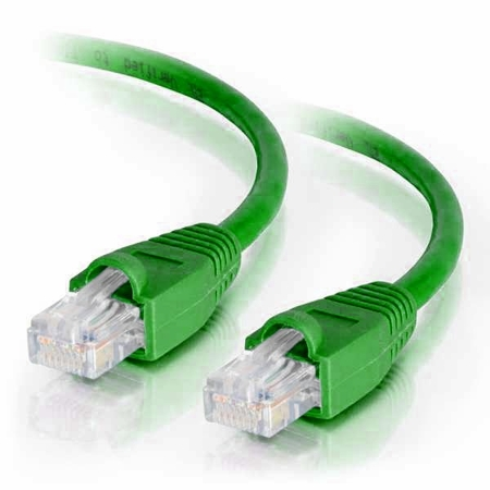 7Ft Cat6 Snagless Ethernet Cable - Green, 10-Pack