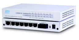 8-port switch with 7 x 10/100 & 1 x 100FX, Singlemode, SC, 60KM