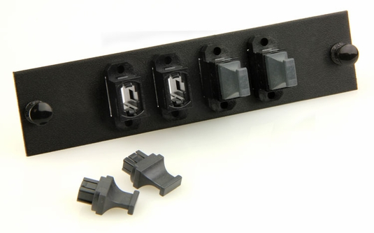 Fiber Optic Adapter Panel, 48-Fiber, (4) MTP/MPO Feed Through Adapters