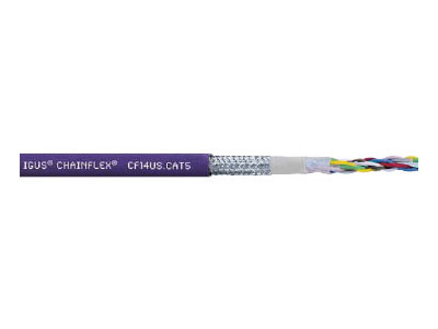 Chainflex Cat5E Rugged Cable, UV Protected, Black Jacket, 500 Foot Spool