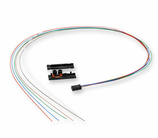 Corning 6-Fiber Loose Tube Fan-Out Kit w/ 900um 36 Color Coded Leads