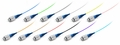 FC/PC Fiber Optic Pigtail, Singlemode OS1, Tight Buffer 900um, 12-Pack