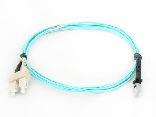 SC-MTRJ Fiber Patch Cable, Multimode 50/125µm 10 Gig OM3, Duplex