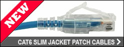 Cat6 Slim Jacket Patch Cables