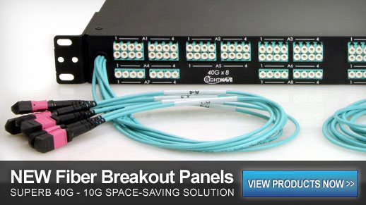 MTP to LC Fiber Optic Breakout Panel, Multimode OM3 OM4